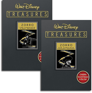 Zorro DVDs, Seasons One and Two