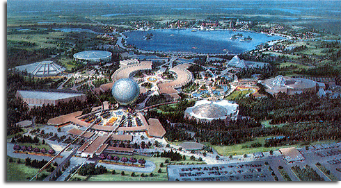 Rendering of EPCOT Center, 1980