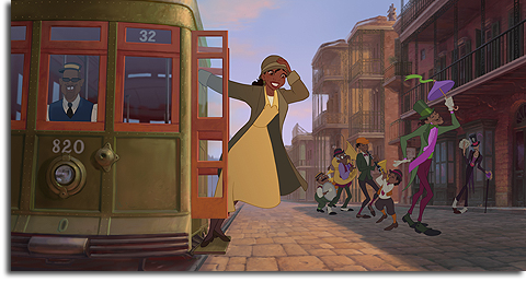 Tiana in The Princess and the Frog