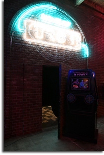 TRON machine at Flynn's Arcade