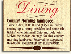 Ad for Melvin the Moose Breakfast Show