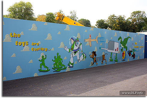 Toy Story Playland Construction Wall