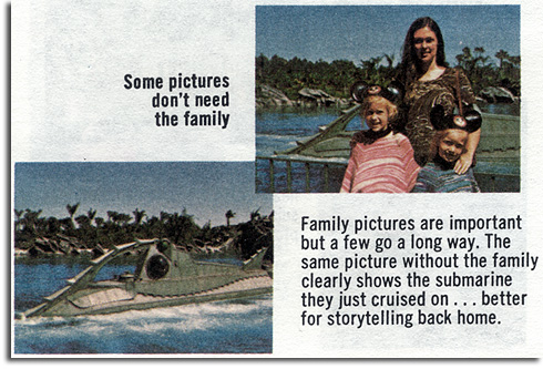 Photo tip from 1974 GAF guide to Walt Disney World