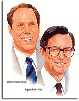 Michael Eisner and Frank Wells, 1987