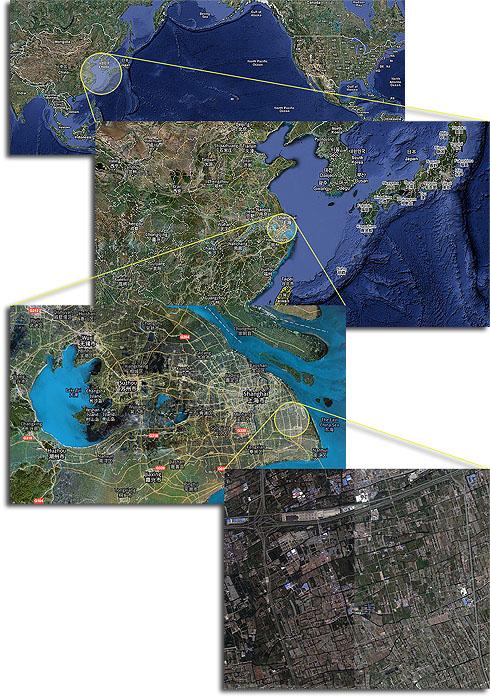 Global map of Shanghai Disneyland location