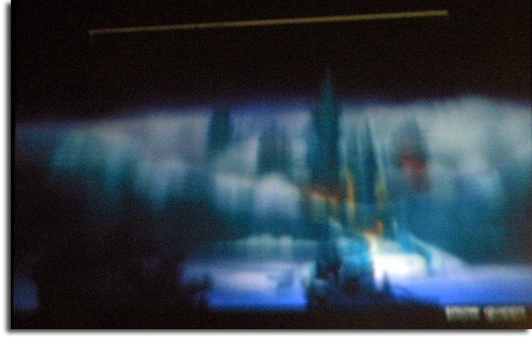 Blurry photo of concept art from Disney's future animated feature The Snow Queen