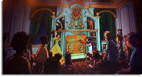 Rendering of the meet-and-greet in Beast's Castle from the Walt Disney World Fantasyland expansion