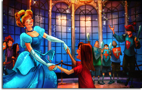 Rendering of the new Cinderella meet-and-greet in Walt Disney World's Fantasyland expansion