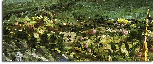 Closeup of Pixie Hollow from the Walt Disney World Fantasyland expansion rendering