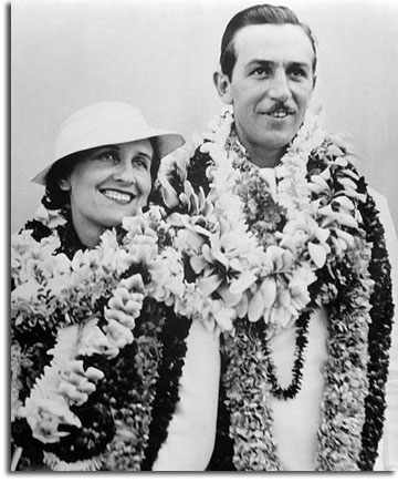 Walt and Lillian Disney arrive in Hawaii, August 1934