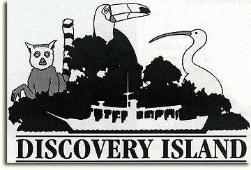 Proposed Discovery Island logo by Scott Sinclair and Scott Allen, 1993