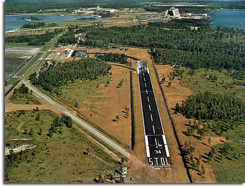 Lake Buena Vista STOLport in operation, 1971