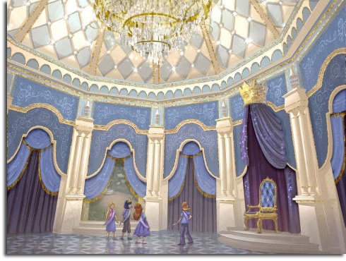 Rendering of Cinderella Castle Walkthrough for Tokyo Disneyland