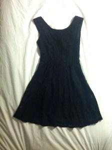 V-back black lace dress-$18, Forever21.