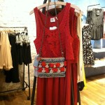 Red Dress-$88. Shoulder bag-$88.