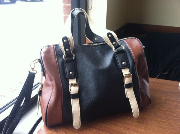 Color blocked leather handbag--$35, Charlotte Russe.