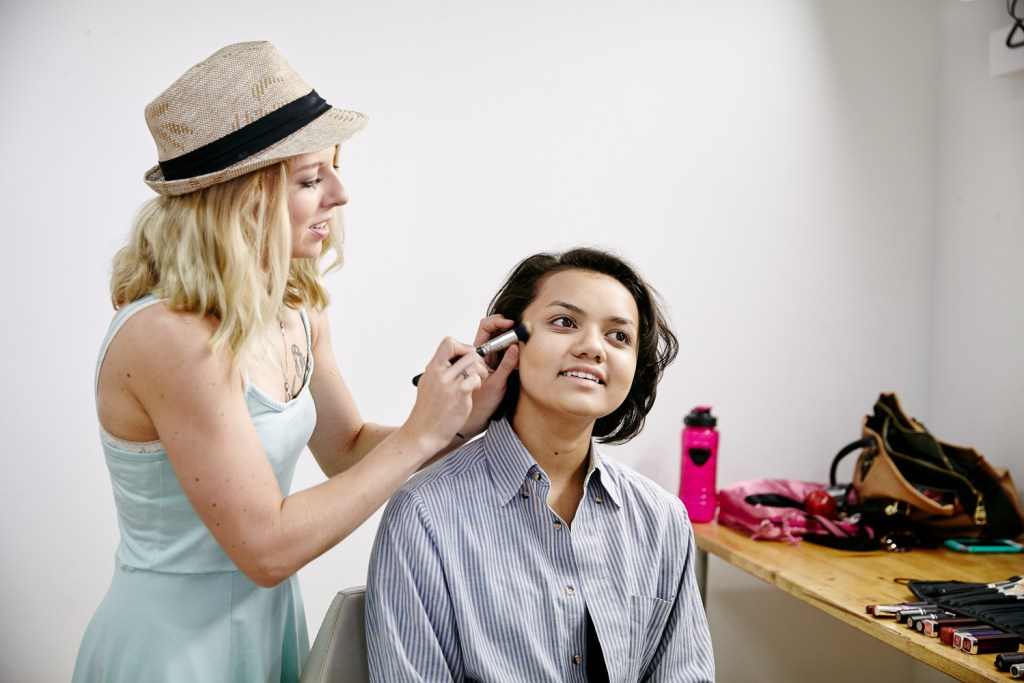 Ashley, our Nashville-based hair and makeup artist.