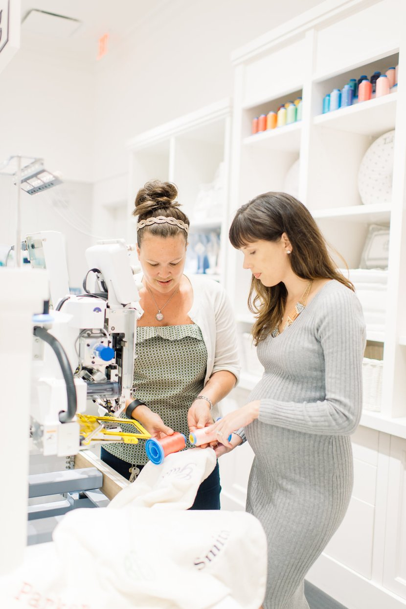 Embroidery Station at Pottery Barn Kids