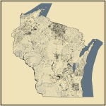 Streams and Waterbodies in Wisconsin
