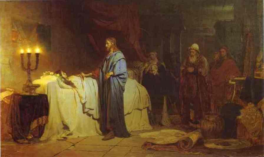 """""""Învierea fiicei lui Iair"""", pictură a lui Llya Rypin (1871)"""