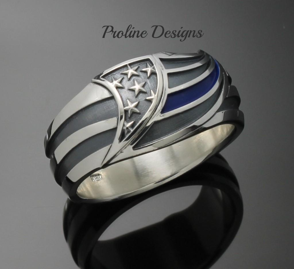 Fullsize Of Thin Blue Line Ring