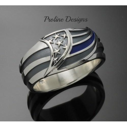 Medium Crop Of Thin Blue Line Ring
