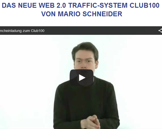 Web2.0 Traffic-System Club100 - Einladung zum Launch