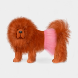 Baker-Miller Pink - Tibetan Mastiff in a Tutu b