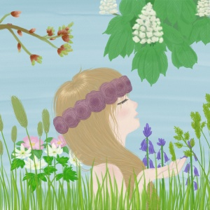 Maia goddess of spring, flowers, trees
