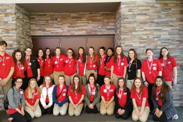 The FCCLA team poses after taking first overall in state.  The team heads to compete in nationals July 3-9.