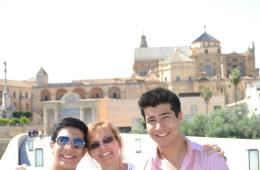 me and my boys in Spain
