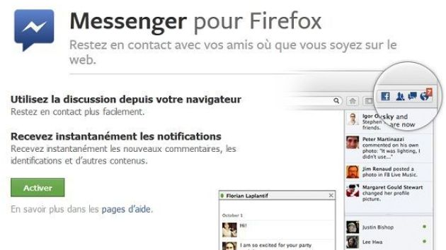 Activer Facebook Messenger sous Firefox 17