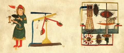 Photo d'un manuscrit de l'ingénieur Al-Jazari
