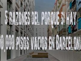 Alcalde Trías hay 90.000 pisos vacíos en Barcelona: 5 razones que lo evidencian.