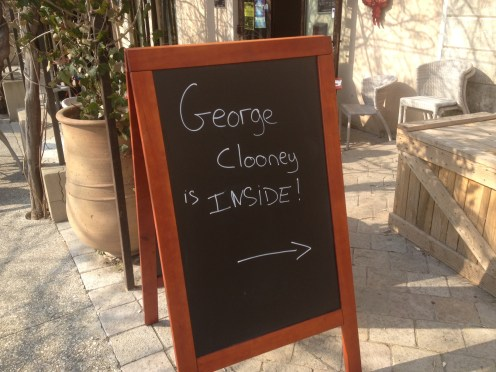 Brad's also been spotted in Lourmarin so why not George
