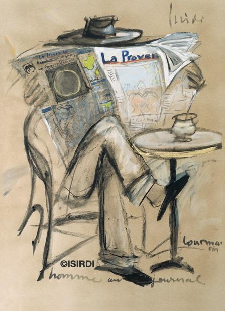 Gerard Isirdi Homme au Journal