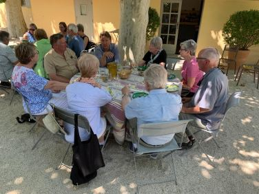 July 2019 Lunch with Rainy Day Books Tour Group from Kansas