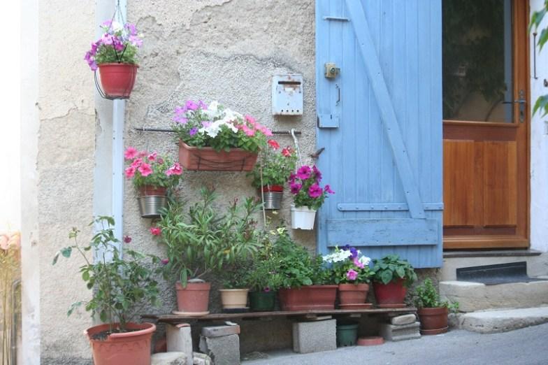 A street scene Lourmarin