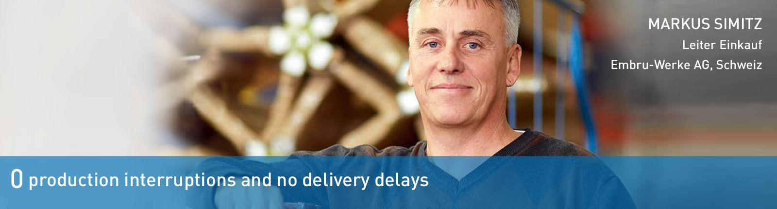 no delivery delays with Bossard