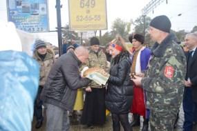 Військовослужбовці Збройних Сил України зустріли у Тернополі «Потяг Єднання України «Труханівська Січ»