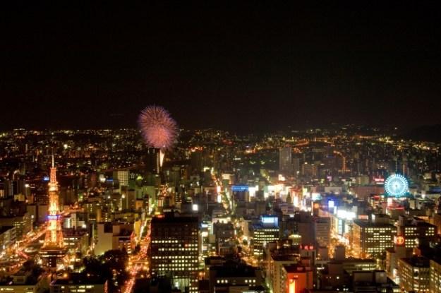 JRタワーホテル日航札幌 南側客室からの眺望(一例)
