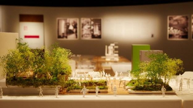 「銀座ソニーパーク」イメージ模型