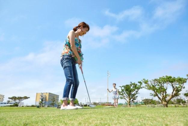 ANAインターコンチネンタル石垣リゾートでのゴルフ風景