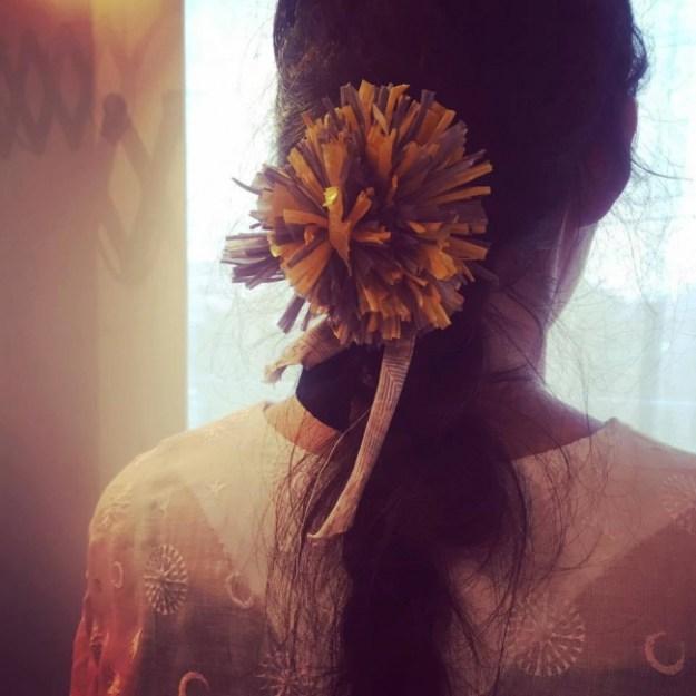 まあるいお花かざり、またはビンテージスカーフのブレスレットがつくれる、る?「めちゃかわアクセづくり」