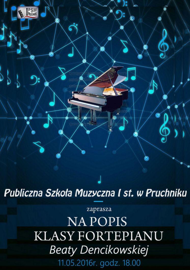 Koncert pianistów - plakat