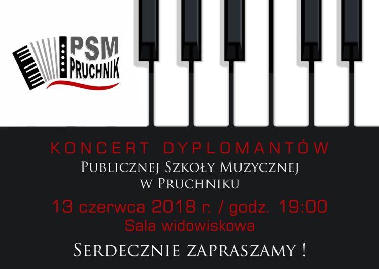 Koncert Dyplomantów - plakat