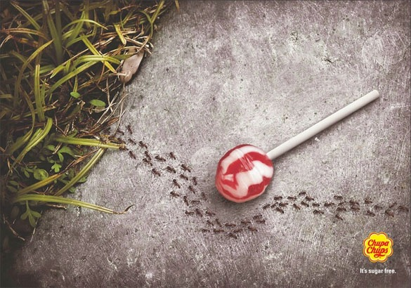 Chupa Chups Sugar Free Funny Print Ads Crazy but Creative