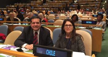 Su primera presentación ante la ONU en Nueva York, en representación de Chile en la 60° CWS (Comisión de la condición jurídica y social de la mujer)
