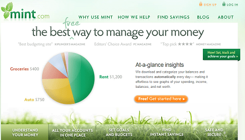 Mint Home Page