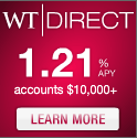 WTDirect Savings Account Banner